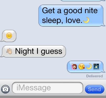 Good Night Emoji © TCousineau 2013