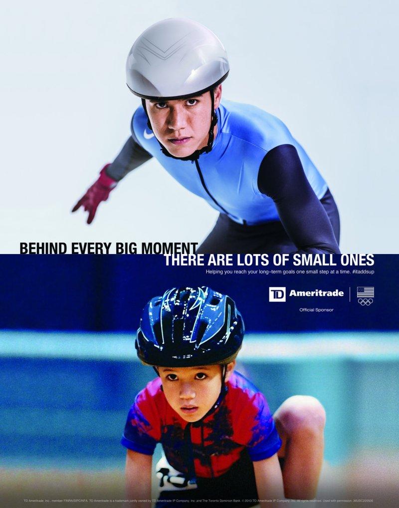 TD Ameritrade Ad 2014 Olypmics Celski