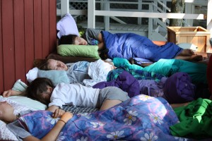 Girls Sleeping On Porch, NY