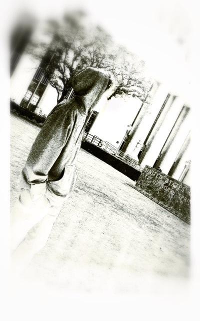 teenager walking