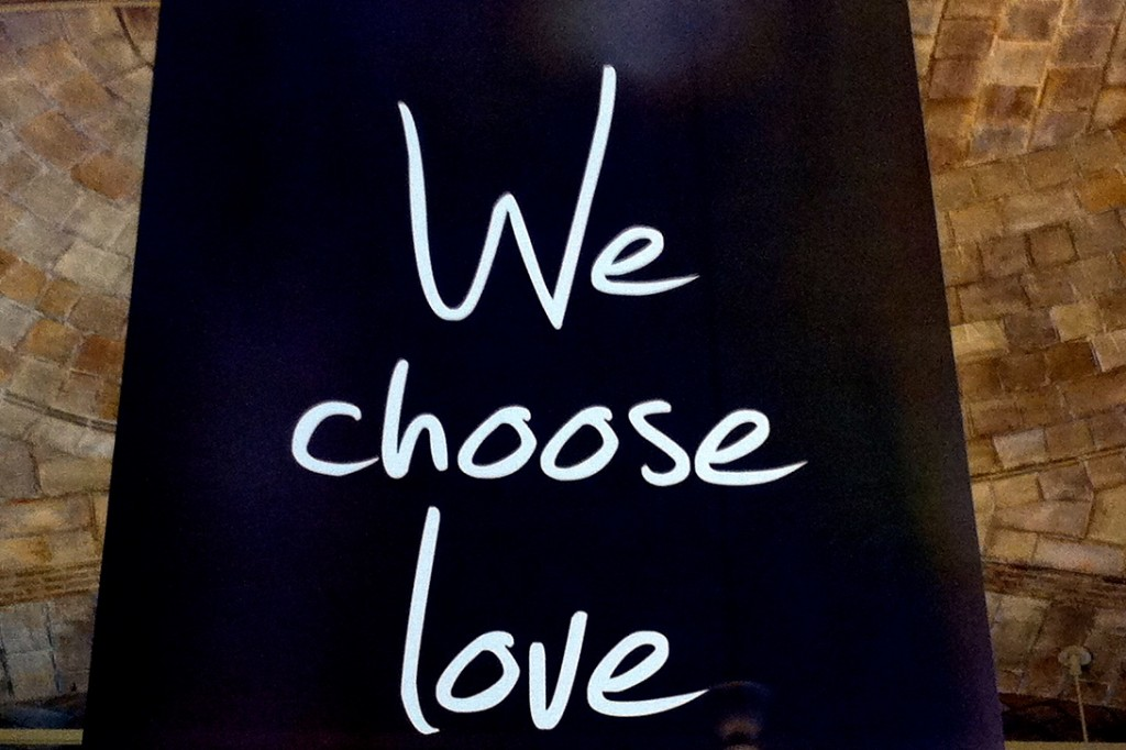 © 2014 Tara Cousineau – Boston Marathon Memorial – We Choose Love 2