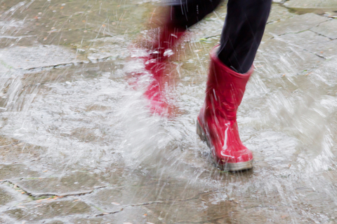 Gum Boots in Rain Dreamstime (c) dreamstime